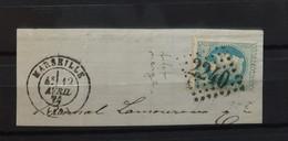 05 - 21 - France - Fragment N° 29 - Variété Neige - Oblitération GC 2240 - Marseille - 1863-1870 Napoleon III With Laurels