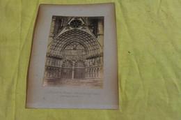 2 Photos Albuminées 1894 Bourges Cher 18  Cathédrale Jugement Dernier Sur Portail Principal Et Vierzon Déversoir - Lieux