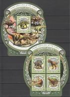 ML641 2016 MALDIVES ANIMALS DINOSAURS 1KB+1BL MNH - Préhistoriques