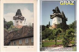 Graz  Uhrturm & Landeshauptstadt Graz ,  Styrie - Graz
