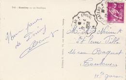 Yvert 1116 Cachet Ambulant Convoyeur Neufchateau à Epinal 1958 Sur Carte Postale Domrémy Pour Toulouse - Railway Post