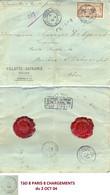 CHARGÉ VILLETTE-DEFRANCE ROUEN De 1904 => POSTE RESTANTE BRUERE-ALLICHAMPS CHER + 8 PARIS 8 CHARGEMENTS + CACHETS CIRE - 1877-1920: Période Semi Moderne