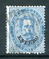 Italian Levant 1881-83 - Stamps Of 1879 - 25c Blue Used (SG 15) - Emissioni Generali