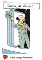 Tintin Vache Qui Rit Image 1 Espace Voyage Vers La Lune Professeur Tournesol - Unclassified
