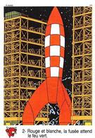 Tintin Vache Qui Rit Image 2 Espace Voyage Vers La Lune Fusée - Unclassified