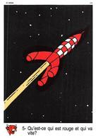 Tintin Vache Qui Rit Image 5 Espace Voyage Vers La Lune Fusée - Unclassified