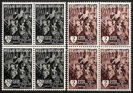 D - [813543]TB//**/Mnh-BELGIQUE 1955 - N° 971/72, Le Départ Des Volontaires Liègeois,art, Histoire, BD4 - ....-1960
