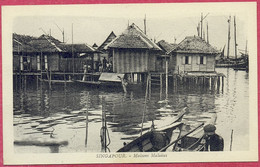 Singapour Maisons Malaises_ (PCard503) Singapore Malay Houses_ CPA Vintage - Singapore