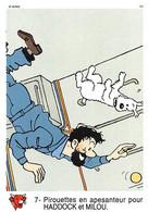 Tintin Vache Qui Rit Image 7 Capitaine Haddock Milou Espace Voyage Vers La Lune Fusée - Unclassified