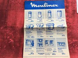 1969-MOULINEX- Document Dépliant Commercial Publicité-☛Publicitaire-ustensiles électriques Ménagers - Publicités