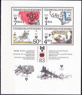 ** Tchécoslovaquie 1983 Mi 2723-6 - Bl.55 (Yv BF 61), (MNH) - Nuevos