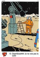 Tintin Vache Qui Rit Image 15 Espace Voyage Vers La Lune Professeur Tournesol Saperlipopette - Sin Clasificación