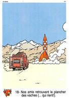 Tintin Vache Qui Rit Image 18 Espace Voyage Vers La Lune Fusée Navette Spatiale - Sin Clasificación