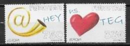 Féroé 2008 N° 635/636 Neufs Europa écriture D'une Lettre - 2008
