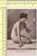 """GASTON GUEDY """"JEUNE FILLE AU MIROIR"""" Salon De Paris - Femme Nue  A. Noyer N° 6096 Vintage Original Old Postcard - Paintings"""