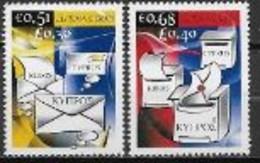 Chypre 2008 N° 1139/1140 Neufs Europa écriture D'une Lettre - 2008
