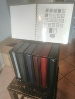 Italia Fogli SAFE 14 Anelli Per Francobolli Singoli Dal 1945 Al 2010 Con 6 Cartelle Con Custodia Come Da Foto - Stamp Boxes