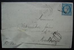 Convoyeur Station LE CHAMBON FEUGEROLLES 1871 Lettre De J Claudinon & Cie Forges Et Aciéries De Chambon, Taxée 30 - Railway Post