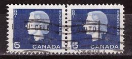 PIA - CANADA :1962-63 - Regina Elisabetta II° - (Yv  332 X 2) - Used Stamps