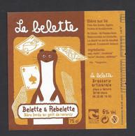 Etiquette De Bière Dorée -  Belette Et Rebelette  -  Brasserie La Belette à Mens   (38) - Beer