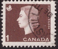 PIA - CANADA :1962-63 - Regina Elisabetta II° - (Yv  328) - Used Stamps