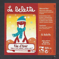 Etiquette De Bière De Fête -  Fée D'Hiver  -  Brasserie La Belette à Mens   (38) - Beer