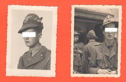 Alpino Sten Sanità  2 Foto Anno 1941 Da Zona Molveno Tn - Guerre, Militaire