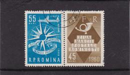 Rumänien 1960 - Journee Du Timbre Y&T No P.A.126 Et Mi No 1924 Zf Avec Vignette - Sin Clasificación