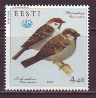 Estland 2002. House And Tree Sparrow. MNH. Pf. - Estonia