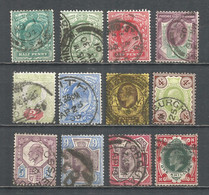 Great Britain 1902 Year Used Stamps Set - Usados