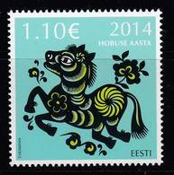 Estland 2014. The Year Of Horse. 1 W. MNH. - Estonia