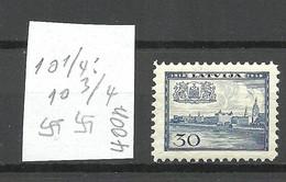 LETTLAND Latvia 1938 Michel 268 Perf 10 1/4 : 10 3/4 WM Normal Horizontal * - Lettonia