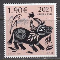Estland 2021. Year Of The Ox. MNH. - Estonia