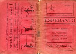 ESPERANTO -  Premier Manuel - Avec Cours - Leçon - Méthode Travail -  1921 - - Practical