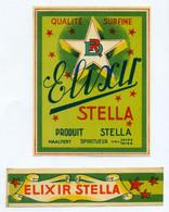 Oud Etiket / Ancienne étiquette  Elixir Stella - Stokerij De Ster Haaltert - Other
