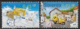 Slovénie 2008 N° 619/620 Neufs Europa écriture D'une Lettre - 2008