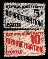 Haiti 1959 Mi Z27, Z29 Alphabetisation - Haití