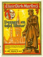 2 Verschillende Oude Etiketten Elixir Dirk Martens Dessert En Tafel Likeur - Stokerij / Distillerie St Anne Te Aalst - Other