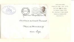 2REF/ TP 2352 Baudouin Velghe Entête R.F.C. Union La Calamine Football C.Kelmis-La Calamine 29/1/90 > Liège - Covers & Documents