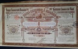 S.A.Banca Comerciala Romana- Actiune De 500 Lei Purtator (1907) - Banco & Caja De Ahorros