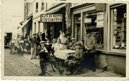Stavelot, Carte-photo, RARE, Café Du Centre (actuellement La Chaumière), Place Du Vinave - Stavelot