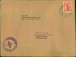 """1943, Ortsbrief Mit 8 Pfg. Parteidienstmarke Ab GÖRLITZ. """"H.J. Bann 19 Oberlausitz-Ost"""" - Covers"""