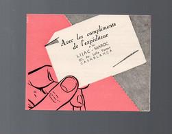 Casablanca (Maroc)   Carte Déplante LIJAC-MAROC (dates, Agrumes Etc)   (PPP28779) - Publicités