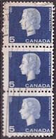 PIA - CANADA :1962-63 - Regina Elisabetta II° - (Yv  332 X 3) - Used Stamps