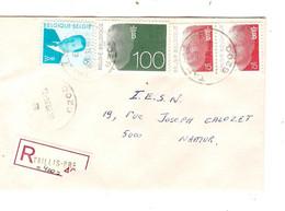 3REF/ TP 2450 (2)-2481 Baudouin Olyff - 2535 Albert II MVTM S/L.Recommandée C.Taillis - Pré 4/3/94 > Namur - Covers & Documents