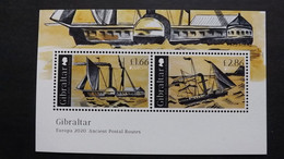 Gibraltar 1963/4 Block 142 **/mnh, EUROPA/CEPT 2020,  Historische Postrouten - Gibilterra