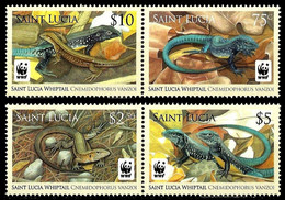 St. Lucia 2008 Lizard Reptiles WWF MNH - Other