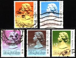 Hong Kong 1988 Mi 509II_517II Queen Elizabeth II (3) - Used Stamps