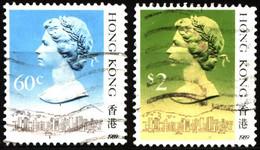 Hong Kong 1989 Mi 510III, 517III Queen Elizabeth II (1) - Used Stamps
