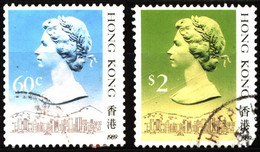 Hong Kong 1989 Mi 510III, 517III Queen Elizabeth II (2) - Used Stamps